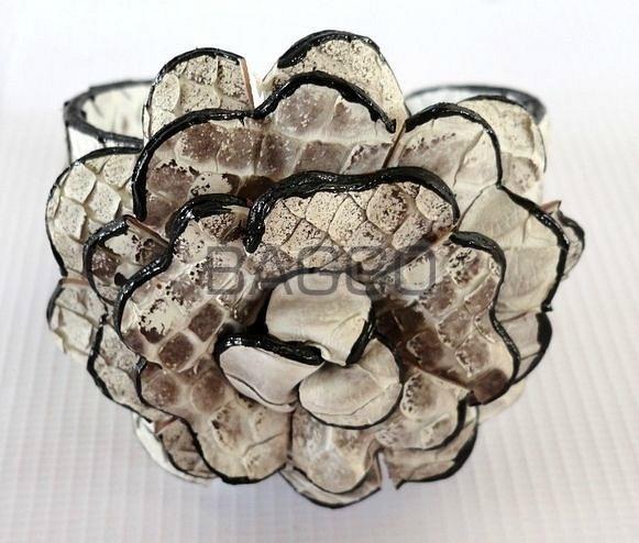 Браслет Цветок из питона abf001