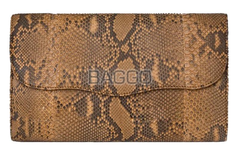 Клатч из кожи питона ak0133
