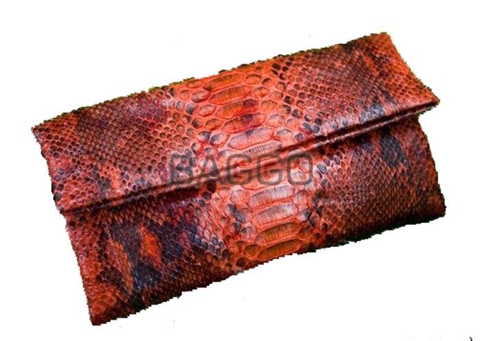 Клатч из кожи питона ako0033