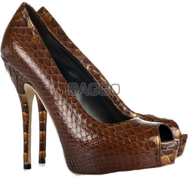 Туфли из питона bb009